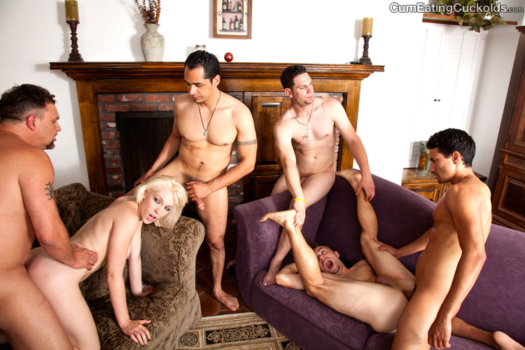 Gangbang swapping hubby humiliated words... super